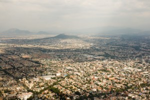 Mexico City from the air